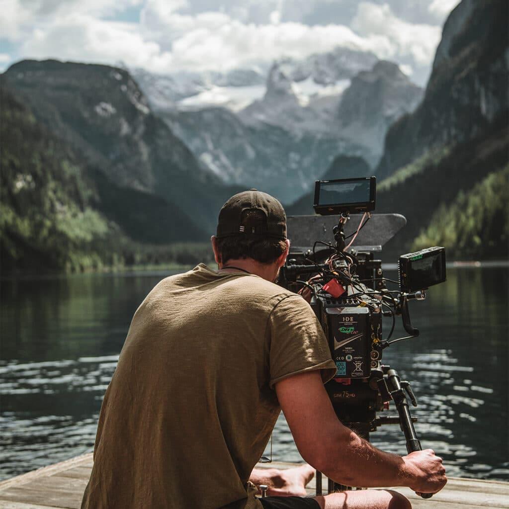Gregor Perle mit Kamera